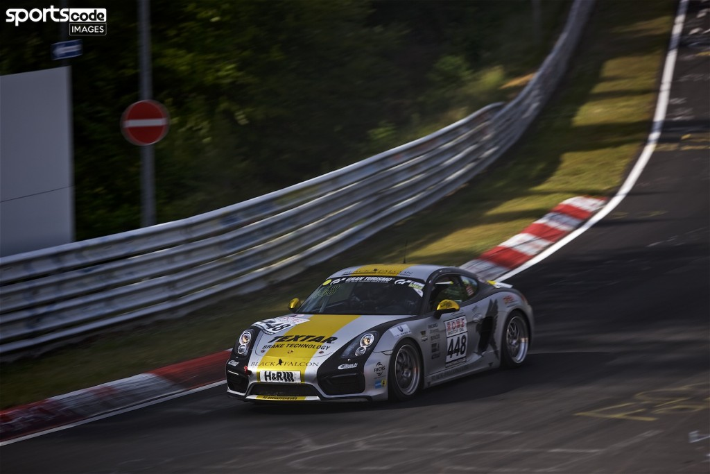 The Team Black Falcon racing team competing in the third round of the 2017 VLN Langstreckenmeisterschaft Nürburgring